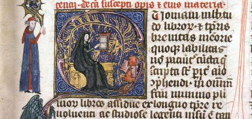 Vincent de Beauvais lisant (Lyon, BM, 180 (110), f. 3 )