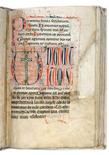 Avignon, Bibl. mun., ms. 143, f. 14. Sacramentaire de Caromb, France, fin du XIIIe s.