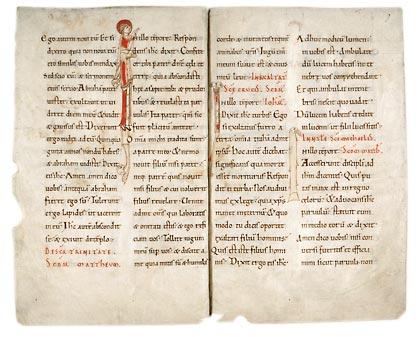 Amiens, Bibl. mun., ms. 172 (f. 2-11), f. 6v-7. Évangéliaire, France, XIe s.