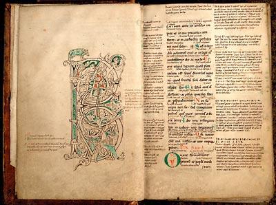 Valenciennes, Bibl. mun., ms. 36, f. 3v-4. Psautier glosé, France du nord, milieu du XIIe s.