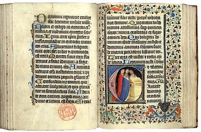 Paris, Bibl. Mazarine, ms. 376, f. 119v-120. Psautier, Metz ? vers 1440-1450.