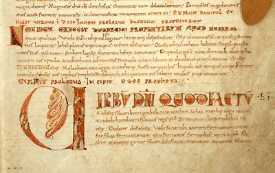 Douai, Bibl. mun., ms. 6, f. 44. Bible, XIe siècle.