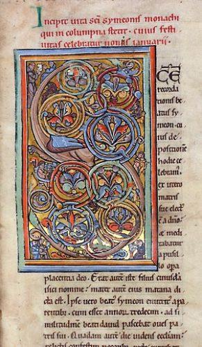 Douai, Bibl. mun., ms. 840, f. 1. Vite sanctorum, Marchiennes, troisième quart du XIIe s.