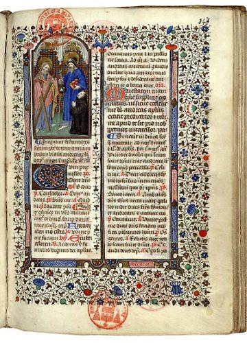 Paris, Bibl. Mazarine, ms. 360, f. 347. Bréviaire célestin, Paris, vers 1430-1440.