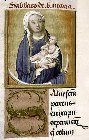 Douai, Bibl. mun., ms. 91, f. 89v, Missel de l'abbaye d'Anchin. Gand, premier quart du XVIe s.