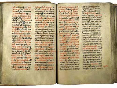 Cambrai, Bibl. mun., ms. 202, f. 46v-47. Ordinaire de la collégiale Saint-Géry de Cambrai, Cambrai, après 1253.