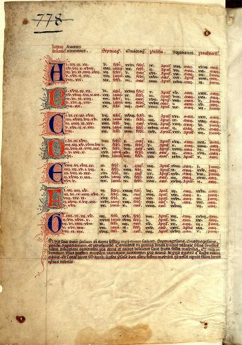 Paris, Bibl. Mazarine, ms. 360, folio 1v.