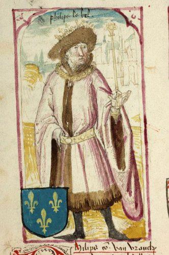 Philippe IV le Bel, Douai, BM, ms. 1110, f. 96v.