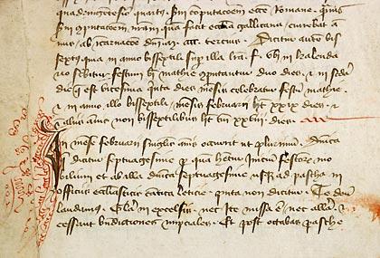 Lyon, Bibl. mun., ms. 506, f. 41. Statuts synodaux du diocèse de Langres, XVe s.