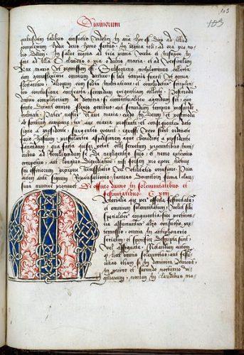 Valenciennes, Bibl. mun., ms. 136, f. 203. Constitutions de Bursfeld, Nord de la France ? première moitié du XVIe s.