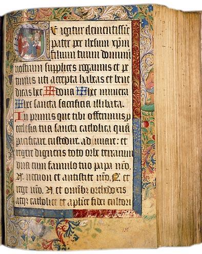 Paris, Bibl. Sainte-Geneviève, ms. 94, f. 182. Missel à l'usage du prieuré Saint-Lô de Rouen, Rouen ? fin du XVe s.