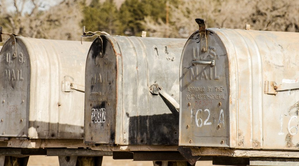 Boîte aux lettres vintage