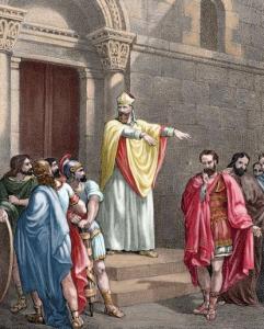 Ambroise et Théodose, dessin détouré