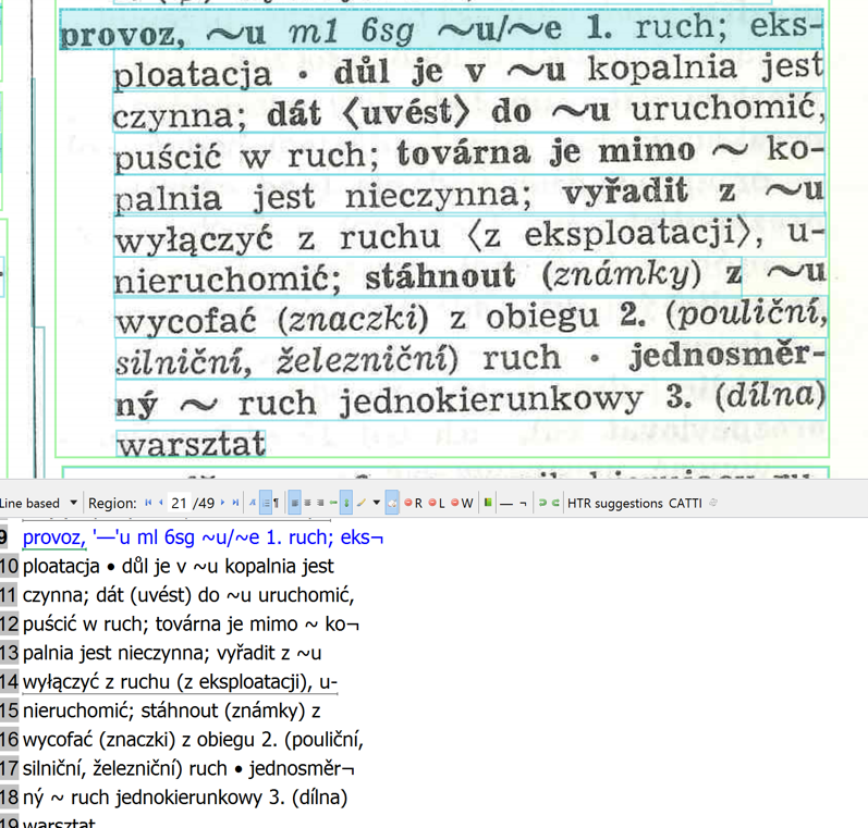 Example 2. Czech-Polish dictionary: here also the OCR result is very decent.