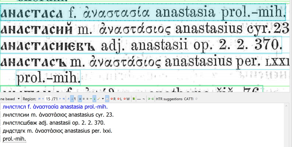 Example 4. Mikloshich, Old Slavonic-Greek dictionary: again, the old-style Cyrillic is hopeless.