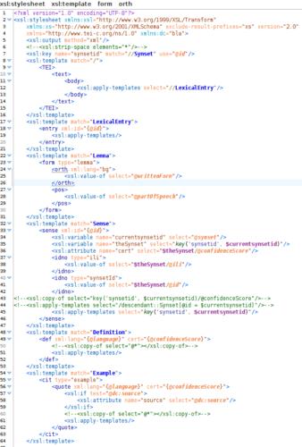 BTB – WordNet: From LMF to TEI with XSLT – DigiLex