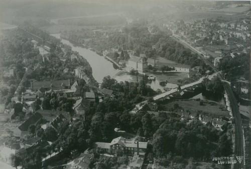 Luftbild Bad Kösen (Quelle: Archiv für Geographie; Urheber Hansa Luftbild AG, Münster)