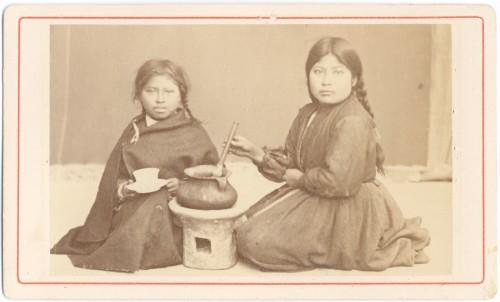 Junge Mädchen in La Paz, Fotografie von 1876