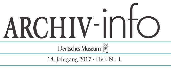 ARCHIV-info 1/2017 erschienen