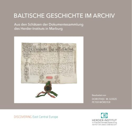 Buchtitel Baltische Geschichte im Archiv
