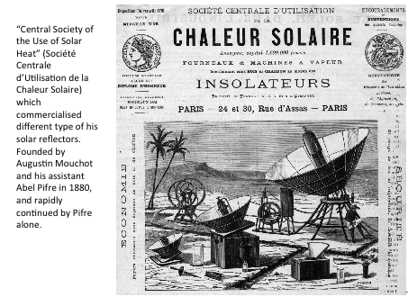 Some slides in English : history of solar energy by F. Caille