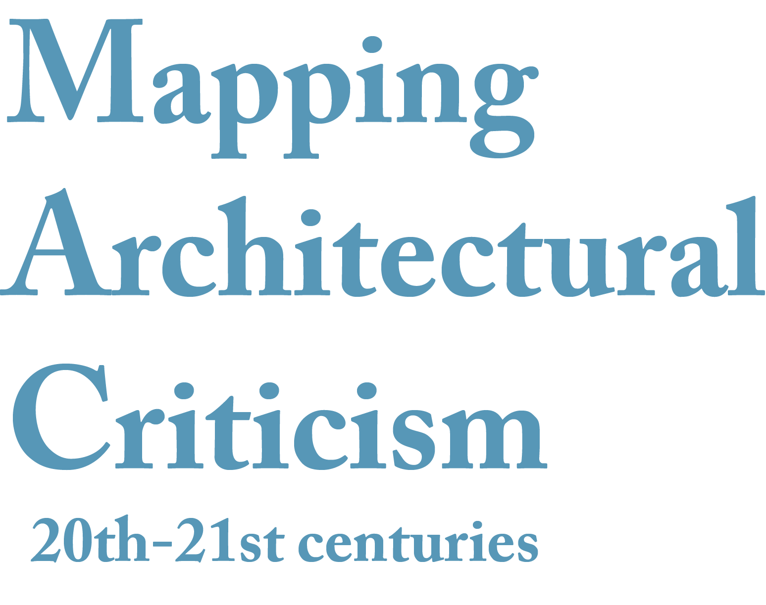 Mapping Architectural Criticism