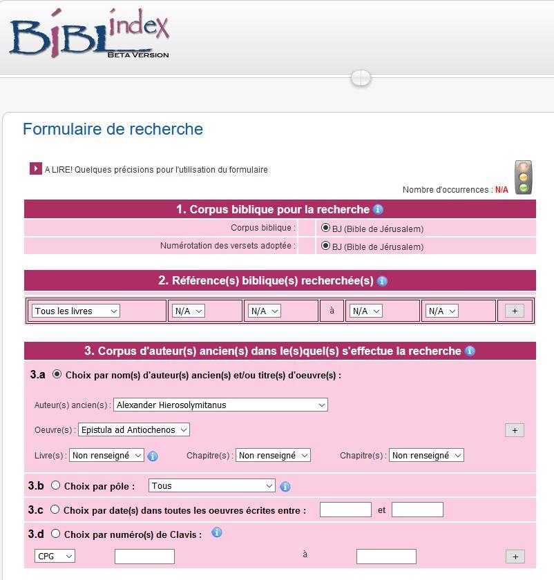Site de Biblindex