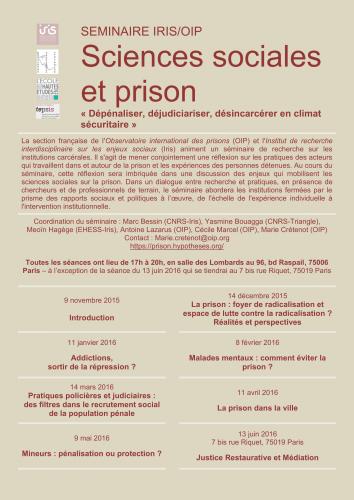 affiche seminaire prisons 2015-16 VF-1