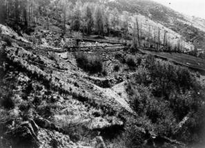 Chantier RTM - Pyrénées centrales - 1898 - Fonds J.P. Métailié