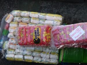 Alguns dos produtos vendidos pelos ambulantes – 11/06/13