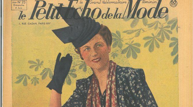 Le Petit Écho de la Mode, n°23 du 4 juin 1939.