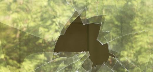 destroyed window