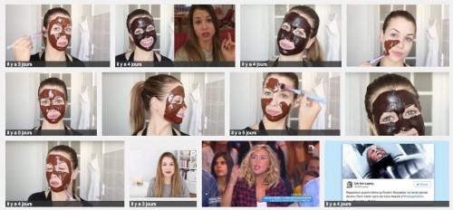 Recherche google, la moitié des résultats affichés représentent le masque au chocolat