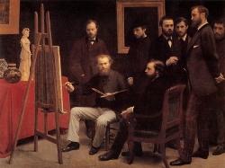 """Fantin-Latour, """"Un Atelier aux Batignolles"""", 1870, 204 × 273 cm"""