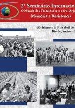 Affiche du Deuxième séminaire international sur le monde des travailleurs et leurs archives