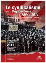 """Affiche de l'exposition """"Le Syndicalisme dans le Puy-de-Dôme"""""""