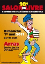 Affiche du 10ème salon du livre d'expression populaire et de critique sociale d'Arras