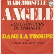 """Pochette du vinyl, Les chanteurs du dimanche, """"Mademoiselle Angèle"""""""