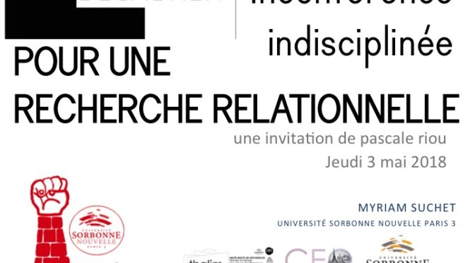 «Décadrer» : un invitation de Pascale Riou à la Galerie Showcase, Grenoble, 3 mai 2018