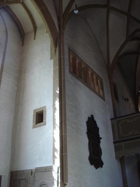 Schlosskirche Meisenheim, Oratorium neben der Westempore, 2014