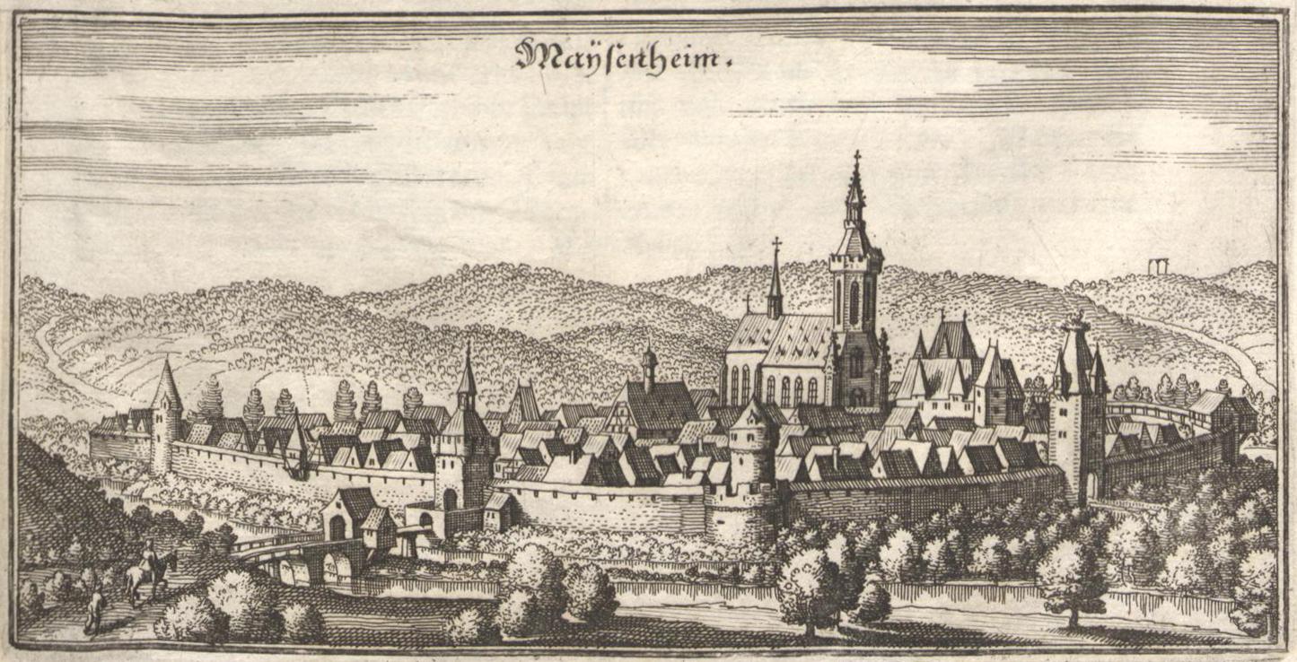 Meisenheim in der Topographia Germaniae von M. Merian, 1648