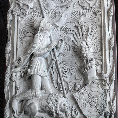 Hans Multscher, Entwurfsmodell für das Grabmal Ludwig des Gebarteten, um 1430 (Bayerisches Nationalmuseum)