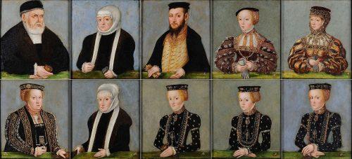 Lucas Cranach der Jüngere, Familia Sigismundi I Jagellonidis Regis Poloniae, ca.1565. Czartoryski Sammlung, National Museum Krakau