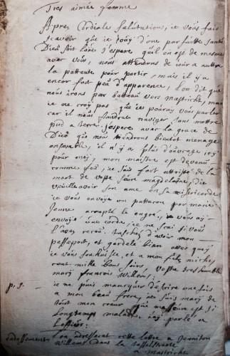 AEN, Haute Cour de Namur, Affaire Paul Derèse, 1699.