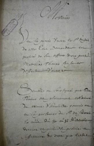AEN, Conseil de Namur (office fiscal), n° 3681, 1695.