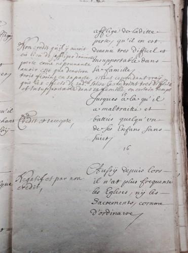 AEN, Conseil de Namur, Affaire Paul Derèse, 1699.