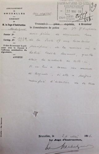 AGR2, Cour d'Assises de Brabant, Desouter Case, 1896.
