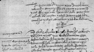 Letra procesal de los primeros años del siglo XVI
