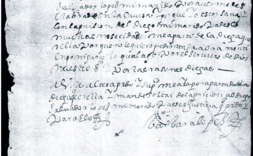 Documento 5: Mujer indígena escribe, 1612