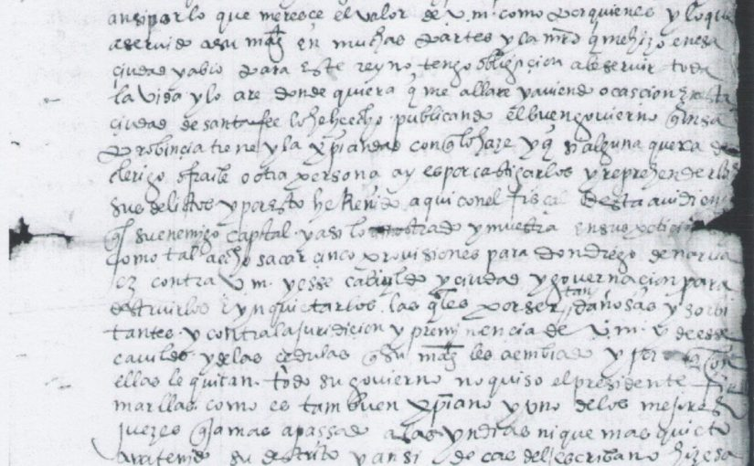 Una carta infamatoria por encargo (siglo XVI)